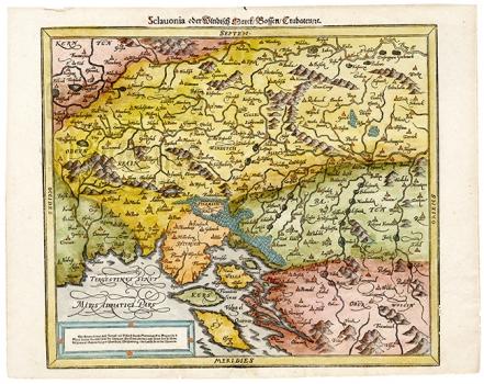 SEBASTIAN MŰNSTER – KARTA SLAVONIJE, VINDIJSKE MARKE, BOSNE I HRVATSKE