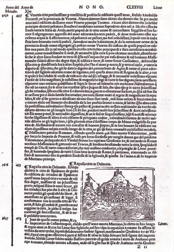 PADRE JACOBO FORESTI DA BERGAMO – VEDUTA DUBROVNIKA