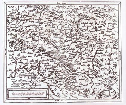 SEBASTIAN MÜNSTER - KARTA SLAVONIJE, SLOVENSKE MARKE...