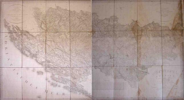 J. Riedel – Karta Srbije, Bosne I Velikog Dijela Ilirije