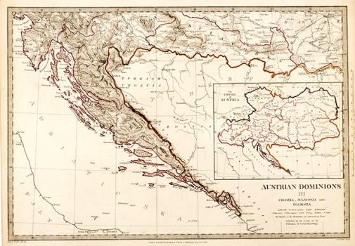 SOCIETY FOR THE DIFFUSION OF USEFUL KNOWLEDGE - KARTA AUSTRIJSKIH ZEMALJA