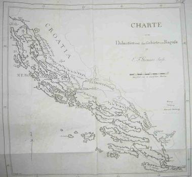 E.F. Germar – Karta Dalmacije I Dubrovackog Podrucja