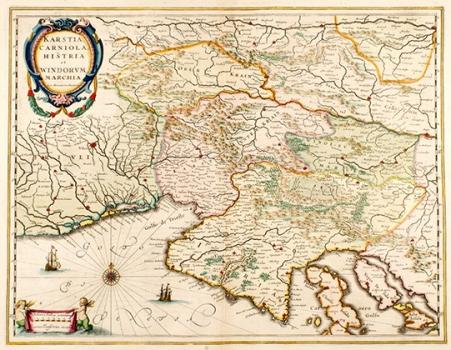 GERHARD MERCATOR – KARTA KRASA, KRANJSKE, SLOVENSKE MARKE I ISTRE