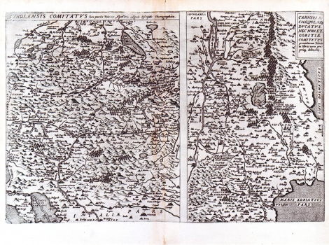WOLFGANG LAZIO – KARTA TIROLA/ KARTA KRANJSKE, KRASA I GORIČKE