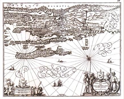 Jan Janssonius – Karta Sjeverne Dalmacije