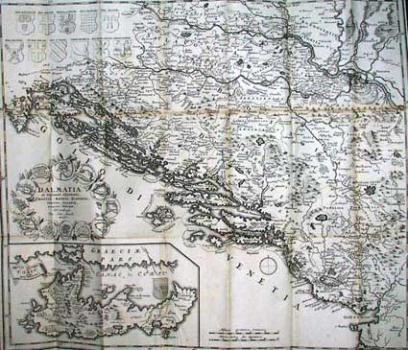 Ivan Lucic – Karta Dalmacije I Susjednih Krajeva