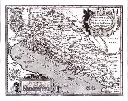 ABRAHAM ORTELIUS – KARTA PANONIJE I ILIRIKA