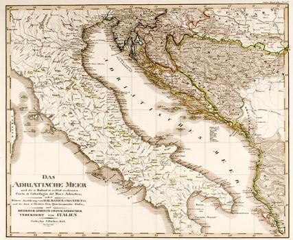 Justus Perthes - Karta Jadrana