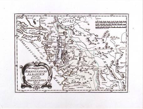 FRANZ JOHANN JOSEPH VON REILLY – KARTA SJEVERNE ALBANIJE I CRNE GORE