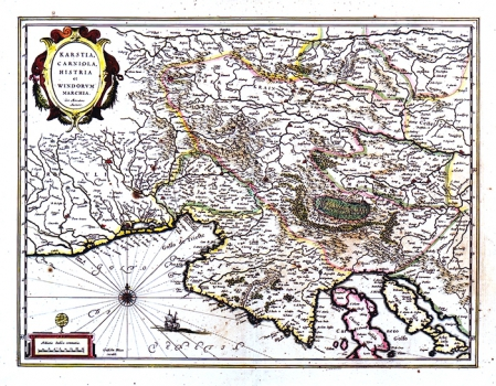 GERHARD MERCATOR – KARTA KRASA, KRANJSKE, ISTRE I SLOVENSKE MARKE