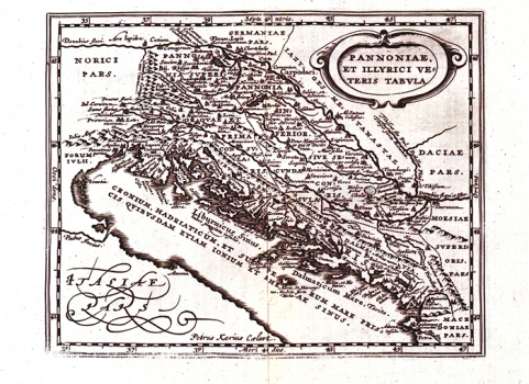 PHILIPPE CLUVERIUS – KARTA PANONIJE I ILIRIKA