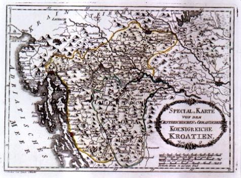 Franz Johann Joseph Von Reilly – Karta Austrijske I Turske Hrvatske