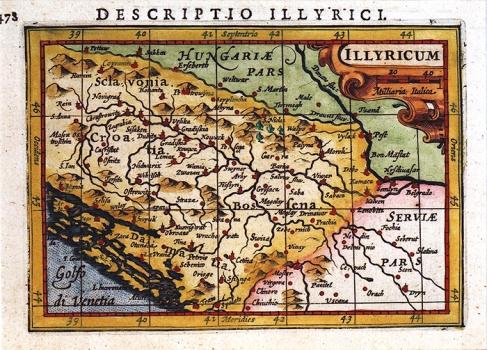 Petrus Bertius – Karta Illyricum