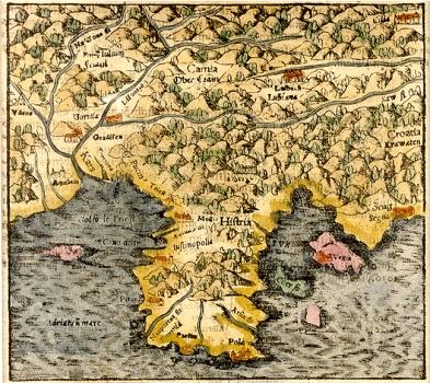 Sebastian Münster - Karta Istre