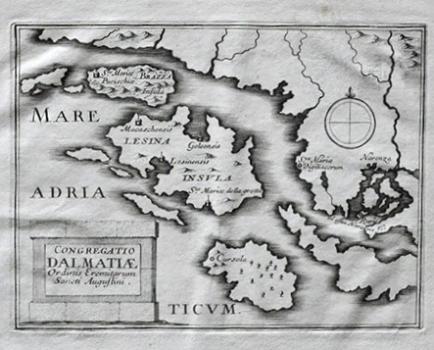 Augustin Lubin  - Karta Augustinskih Samostana Na Otocima Hvaru I Bracu